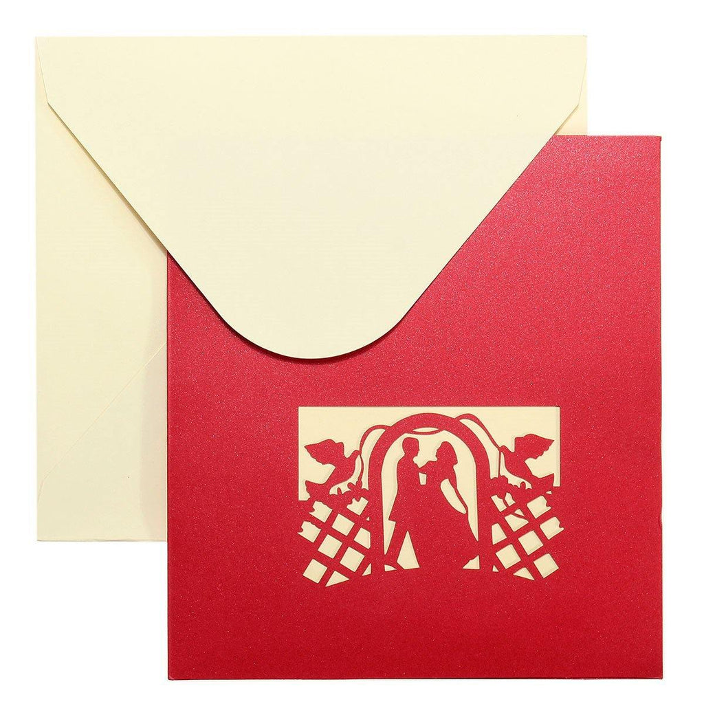 Groom and Bride with Swan Wedding Card/ Greeting Card/ Invitation ...