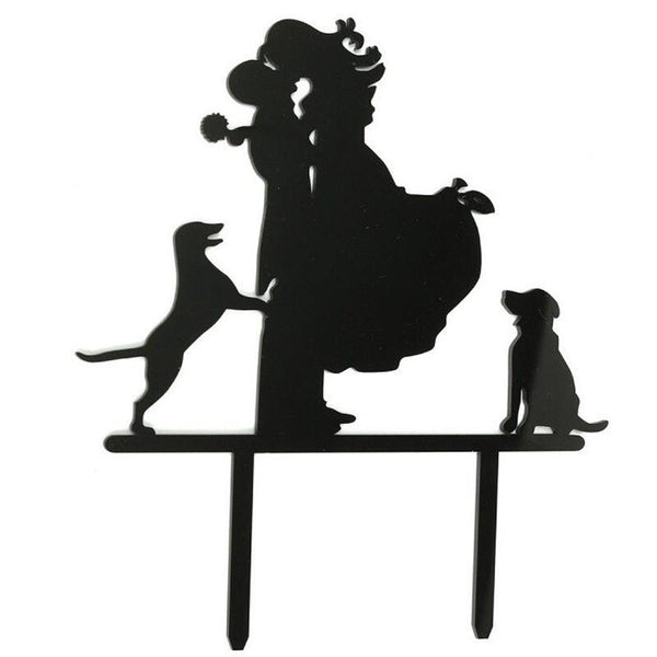 Sweet Family Cake Topper (Groom Lifting Bride & Kiss /Dog Pet Puppy) - Charmerry