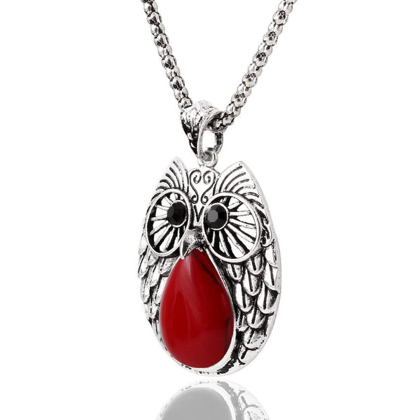 Fashion Jewelry Round Owl Jewelry Set (Necklace, Earring & Bracelet) - Charmerry