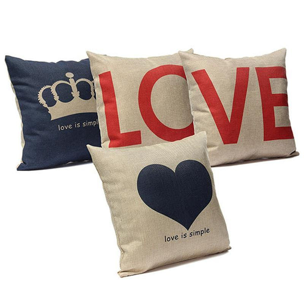 Cushion & Cover Pillow Case/ Custion Cover (Love/ Crown/ Heart) - Charmerry