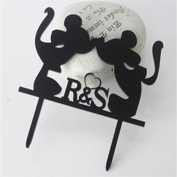 Sweet Bride Kiss Groom Wedding Cake Topper (Pretty /Cute /Creative)