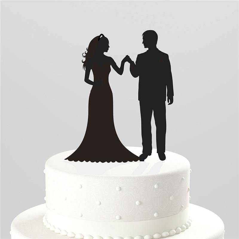 Weeding Cake Topper (Bride Groom Entrance /Loving Gaze /Hands Holding) - Charmerry