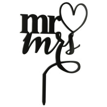 Load image into Gallery viewer, Cake Topper Wedding Cake Topper (Heart Shape Mr Loves Mrs) -Mr.& Mrs. Cake Decoration - Charmerry