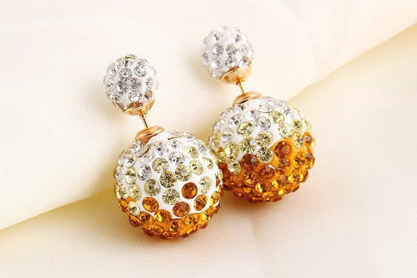 Rhinestone Double Sided Stud