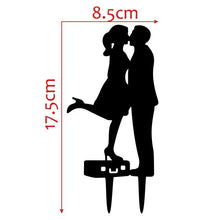 Load image into Gallery viewer, Romantic Cake Topper -Wedding Cake Decoration (Bride Kiss Groom) - CHARMERRY