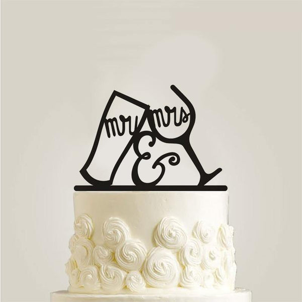 Wedding Cake Topper /Anniversary Cake Decoration (Glass Cup & Cheer Up)