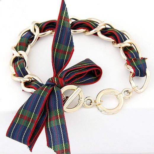 Fashion Jewelry Scotland Ribbon Bangle Bracelet - Charmerry