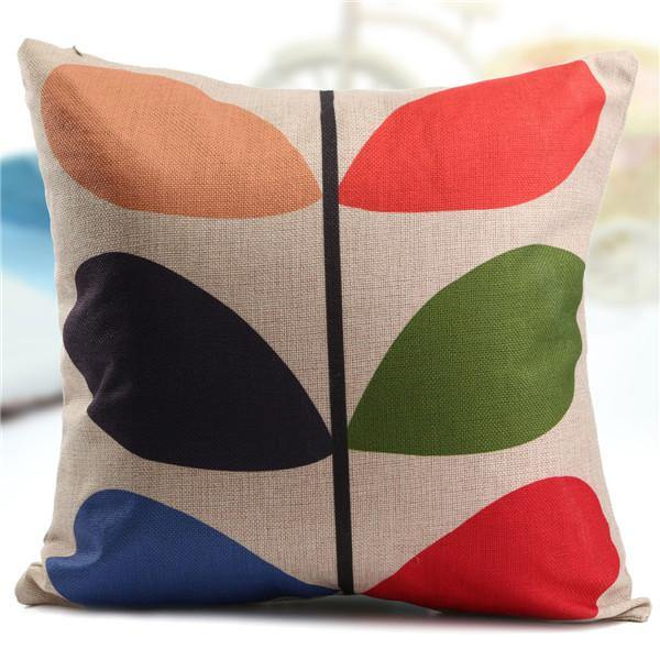 Cushion & Cover Pillow Case/ Custion Cover (Colorful Leaf) - Charmerry
