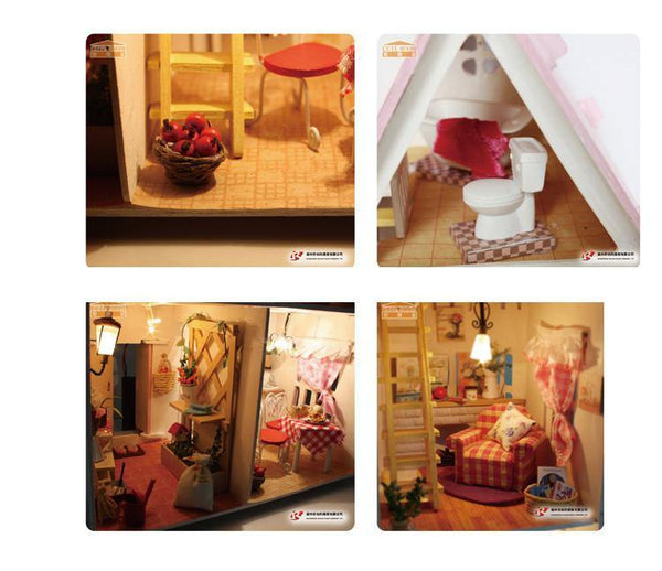 Puzzle 3D Doll House Wooden DIY Miniature (Dream House) - Charmerry