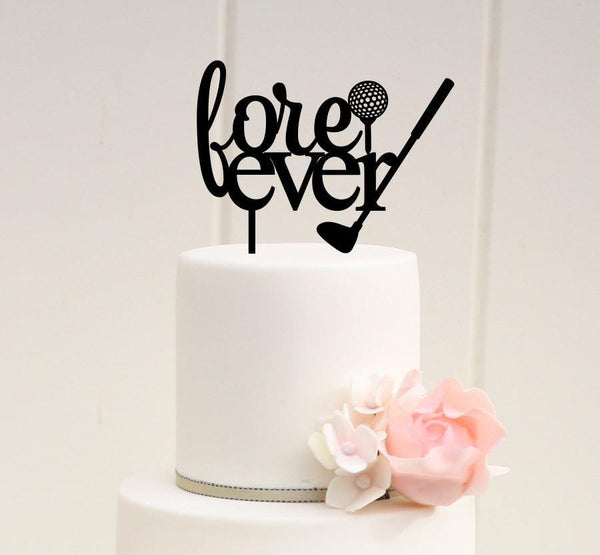 Golf Cake Topper (Golf Club & Ball /Sport Theme /Golf Lover /Love Ever)