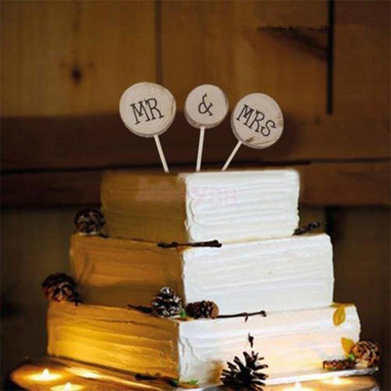 Cake Topper Mr & Mrs Cake Topper Decoration for Wedding Mariage Engagement Party - Charmerry
