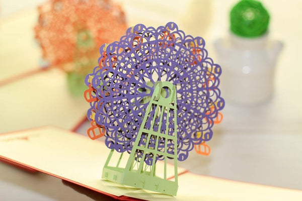 Greeding Cards Sky Wheel Greeting Card/ 3D Pop UP - Charmerry