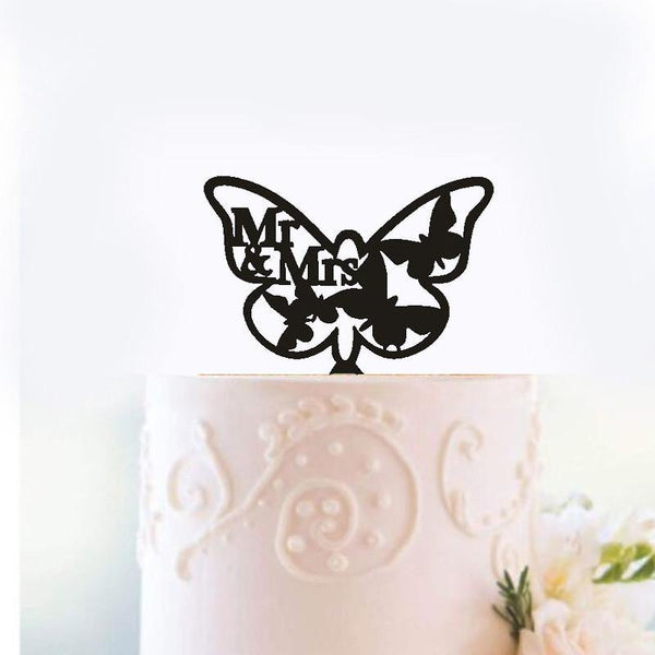 Wedding Cake Topper /Romantic Cake Decoration (Beautiful Butterfly /Mr Mrs)
