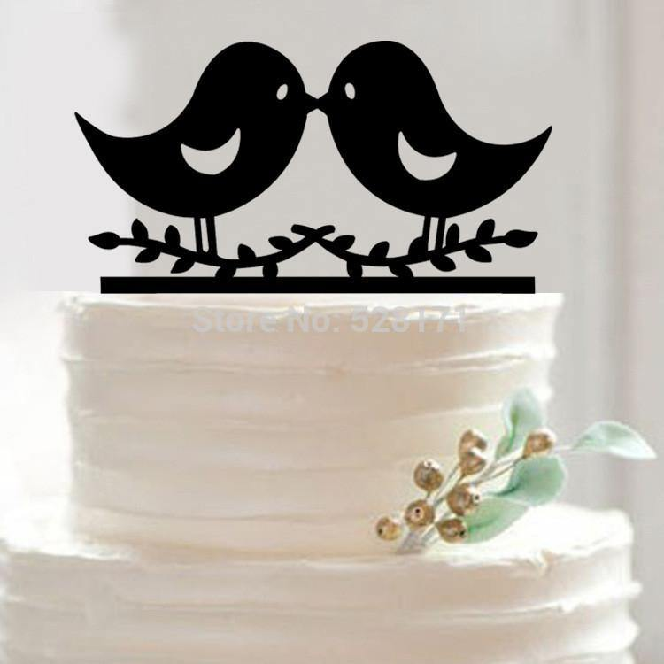 Wedding Cake Topper (Romantic Kiss /Pretty Love Message Bird /Cute Lovely)