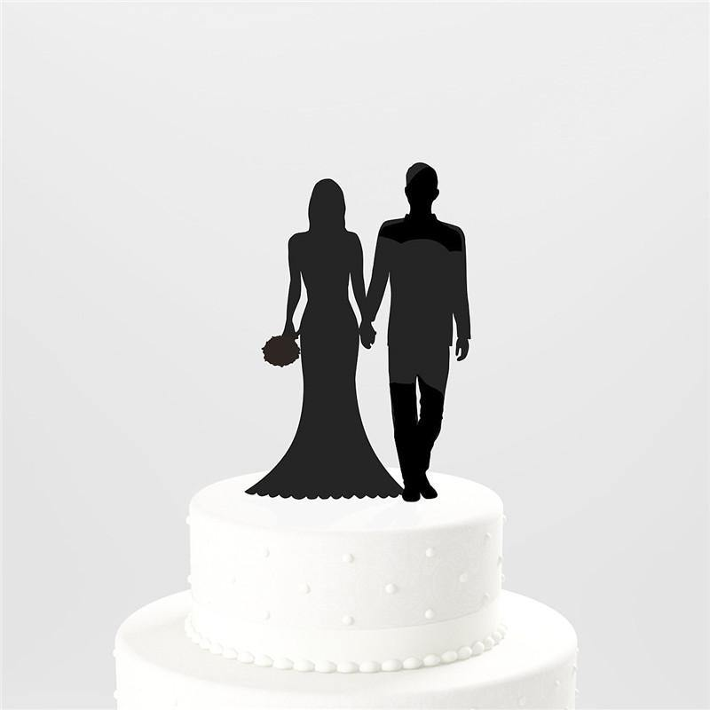 Wedding Cake Topper (Hand in Hand /Bride Groom Entrance /Romantic Love) - Charmerry