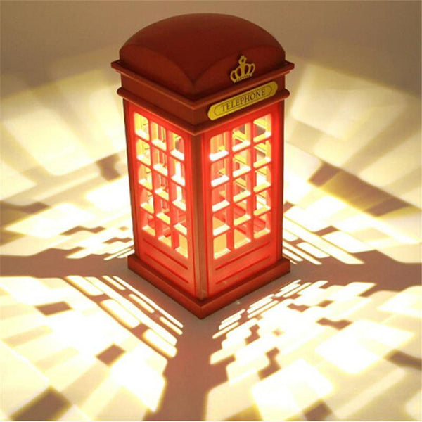 London Telephone Booth LED Night Light Lamp with Touch Sensor (USB Rechargeable)