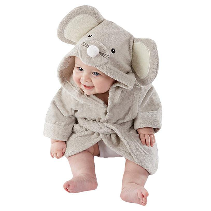 Baby Clothes Baby Bathrobe Hoodie Baby Towel (Elephant) - Charmerry
