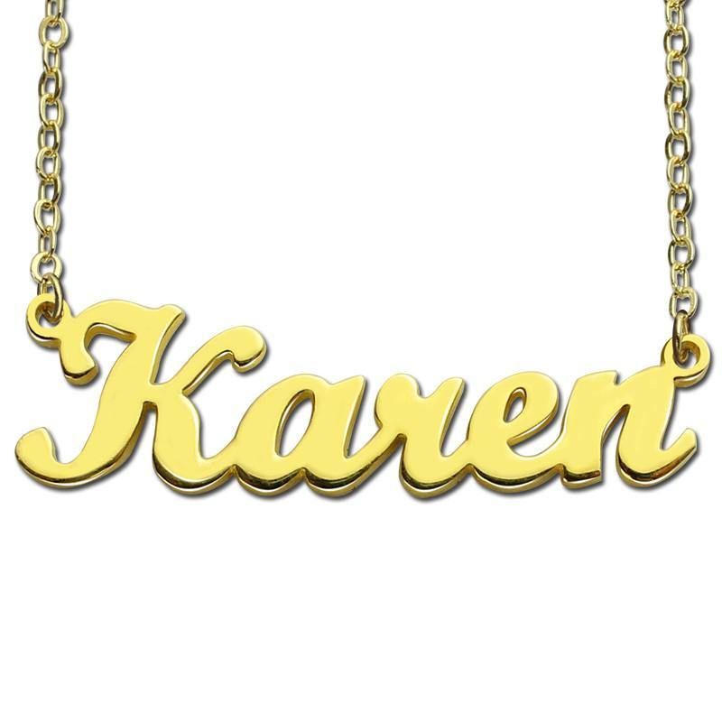 Fashion Jewelry Personalized Name Nacklace / Gold Plated Fashion Jewelry - Charmerry