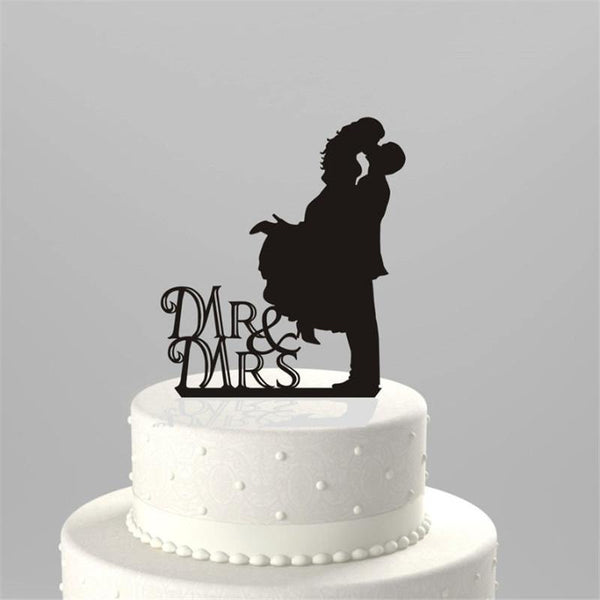 Cake Topper Romantic Cake Topper (Groom Lifting Bride & Kiss /Heart Touching Moment) - Charmerry