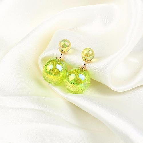 Fashion Jewelry Colorful Shiny Double Sided Stud - Charmerry