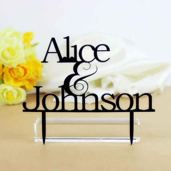 Cake Topper Personalized Cake Topper -Personalised Wedding Cake Decoration (Anniversary) - Charmerry