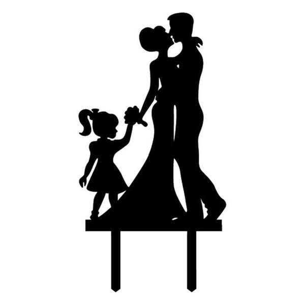 Cake Topper Wedding Cake Topper Decoration (Girl Daughter Child Children Anniversary) - Charmerry