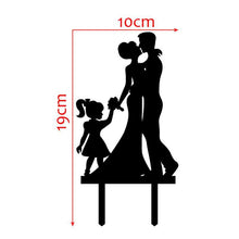 Load image into Gallery viewer, Wedding Cake Topper Decoration (Girl Daughter Child Children Anniversary) - CHARMERRY
