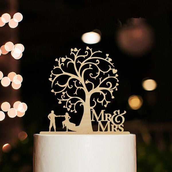 Cake Topper Mr Mrs Wedding Cake Topper -Mr. & Mrs. Dancing Cake Decoration - Charmerry