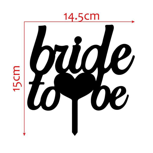 Cake Topper Bride to be Cake Topper for Engagement Party (Hen Bachelorette Bachelor) - Charmerry