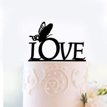 Load image into Gallery viewer, Wedding Cake Topper /Romantic Cake Decoration (Beautiful Butterfly /Love) - CHARMERRY