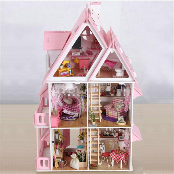 3D Doll House Wooden DIY Miniature (Dream House)