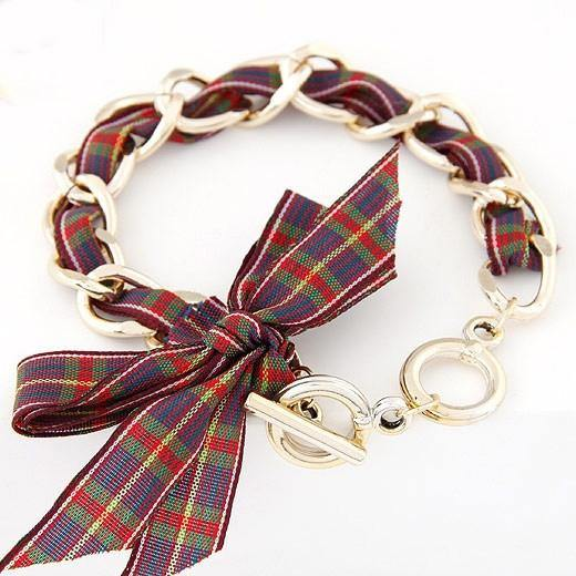 Scotland Ribbon Bangle Bracelet