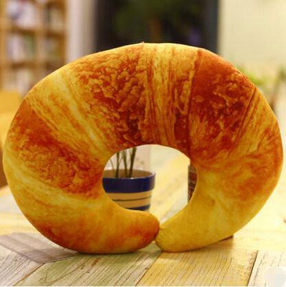 Cushion & Cover Food Simulation Cushion/ Neck Pillow (Chilli/ Croissant/ Shrimp) - Charmerry
