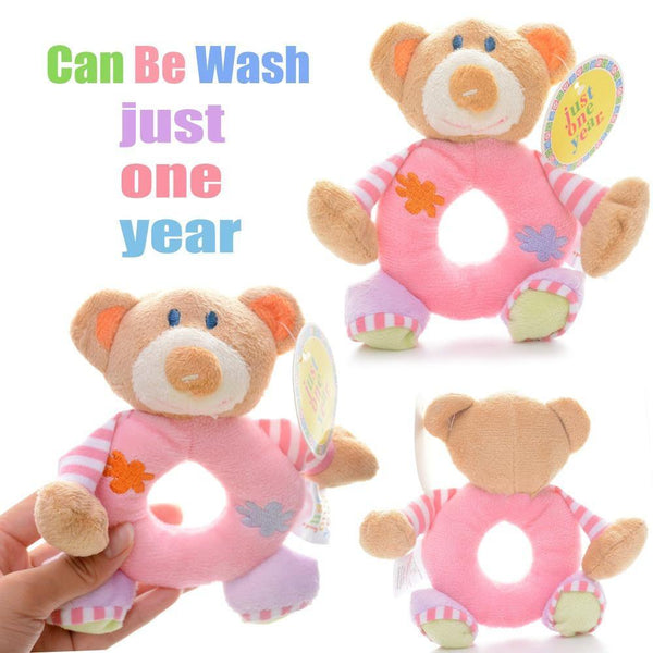 Toy Bear Plush Toy - Learning Rattle Toy /Infant Developmental Training - Charmerry