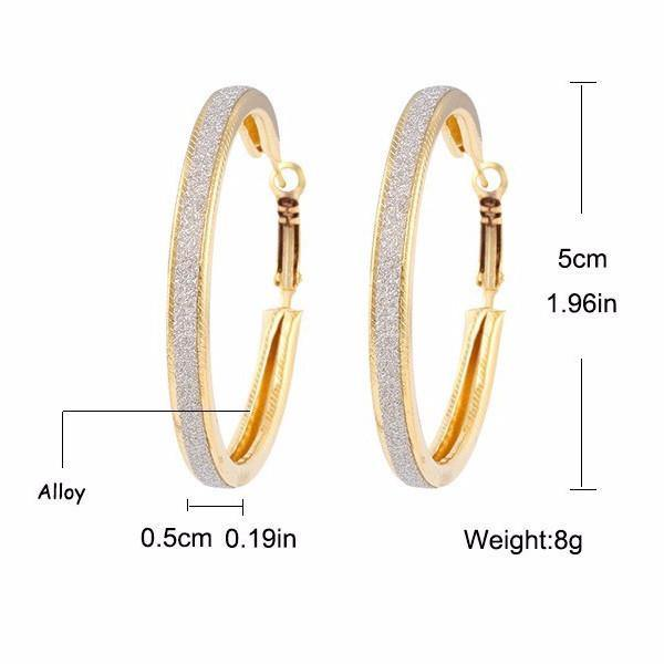 Fashion Jewelry Shiny Circle Hoop Earring - Charmerry