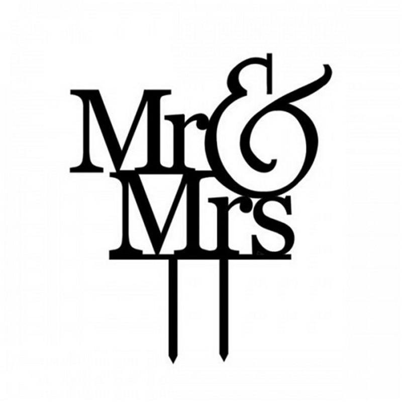 Wedding Cake Topper -Romantic Anniversary Cake Decoration (Mr & Mrs)
