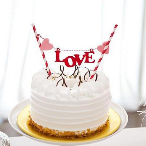 Cake Topper Love Flag Cake Topper - Charmerry