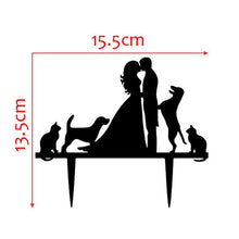 Load image into Gallery viewer, Wedding Cake Topper /Anniversary Cake Decoration (Cat Dog Puppy Pet) - CHARMERRY