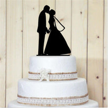 Load image into Gallery viewer, Cake Topper Romantic Cake Topper (Groom Bride /Hold Hands & Kiss /Beautiful Moment) - Charmerry