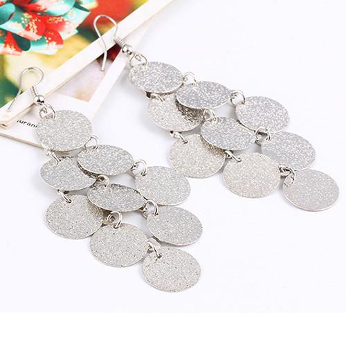 Fashion Jewelry Elegant Metal Geo Drop Earring - Charmerry