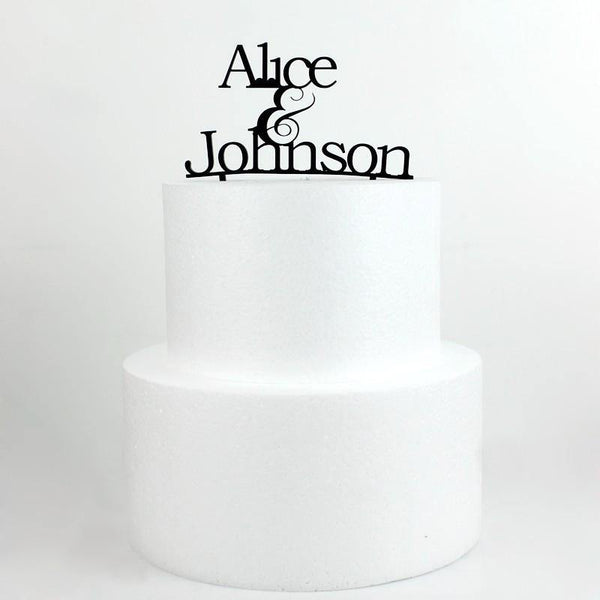 Personalized Cake Topper -Personalised Wedding Cake Decoration (Anniversary)