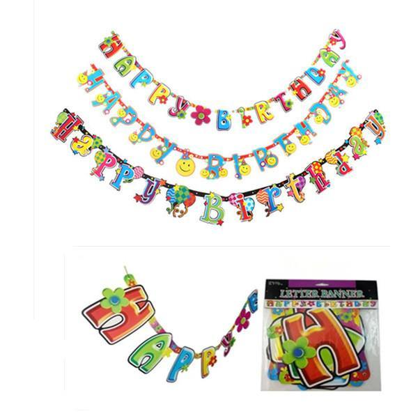 Party Supplies Celebration Banner / Party Decoration (Happy Birthday) - Charmerry