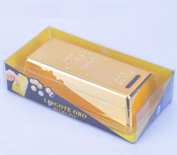 Bullion Bar Money Bank / Coin Saving Box/ Piggy Bank (999.9 Gold)