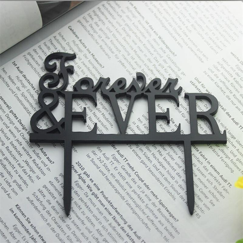 Wedding Cake Topper /Anniversary Cake Decoration (Forever & Ever) - CHARMERRY