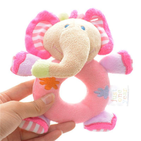 Toy Elephant Plush Toy -Learning Rattle Toy /Infant Developmental Training - Charmerry