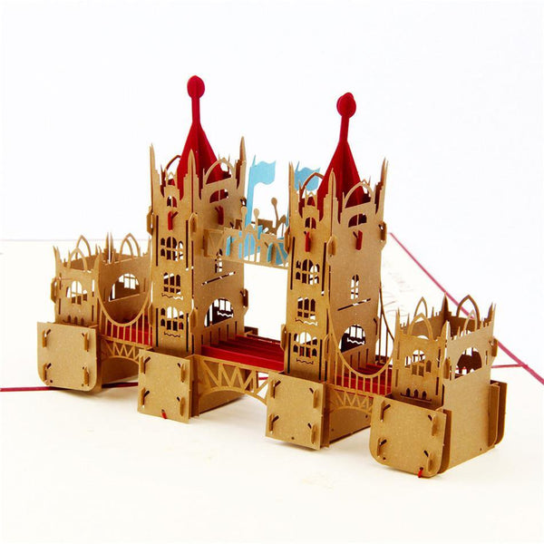 Greeding Cards London Tower Bridge 3D Pop Up Greeting Card - Charmerry