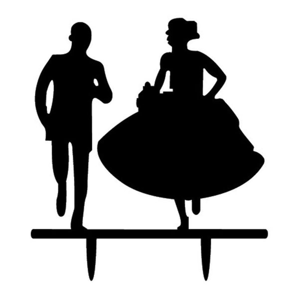 Cake Topper Cake Topper (Bride & Groom Run /Happy Running /Romantic Wedding Party) - Charmerry