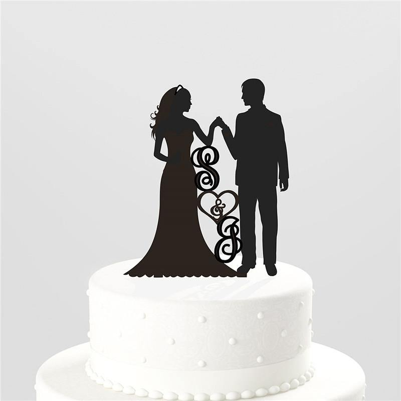 Wedding Cake Topper (Hands Holding /Bride Groom Entrance /Loving Gaze) - Charmerry