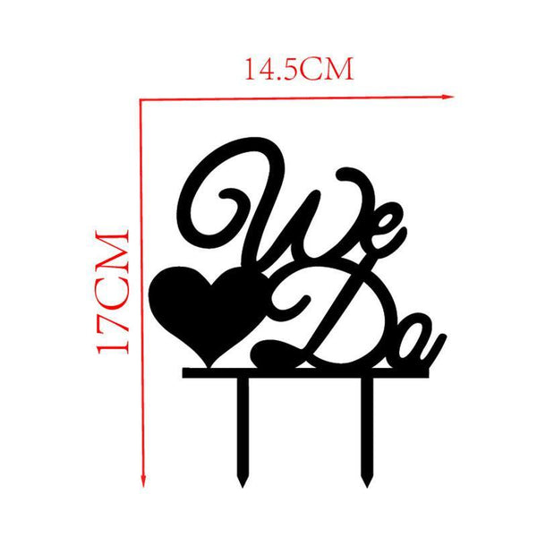 Wedding Cake Topper /Anniversary Cake Decoration (We Do /Love /Heart Shape)
