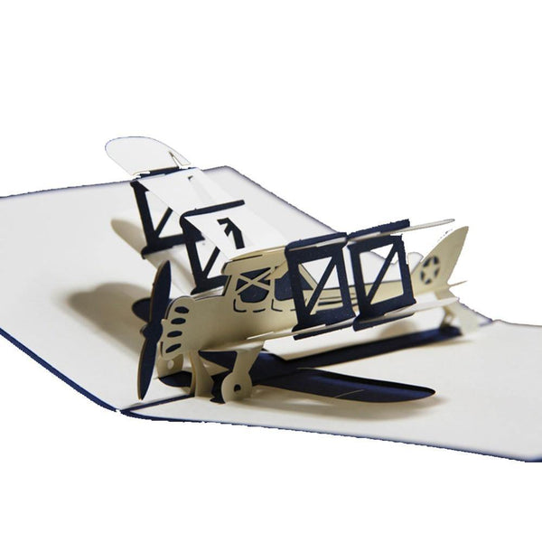 Greeding Cards Airplane Greeting Card/ 3D Pop Up Card - Charmerry